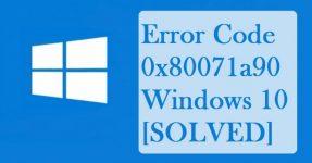 Код ошибки 0x80071a90 Windows 10