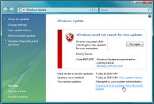 80072efd ошибка обновления Windows 7